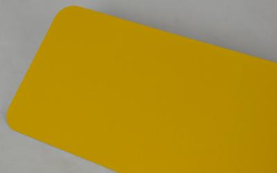 Naamplaat Amerikaans geel