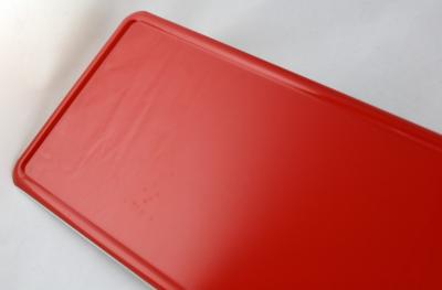 rode naamplaat